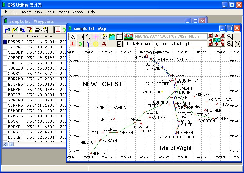 Click to view GPS Utility screenshots